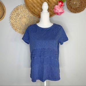 Chico's   Textured Polka Dot Short Sleeve Shirt